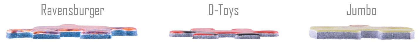 D-Toys Puzzleteilchen sind dünner