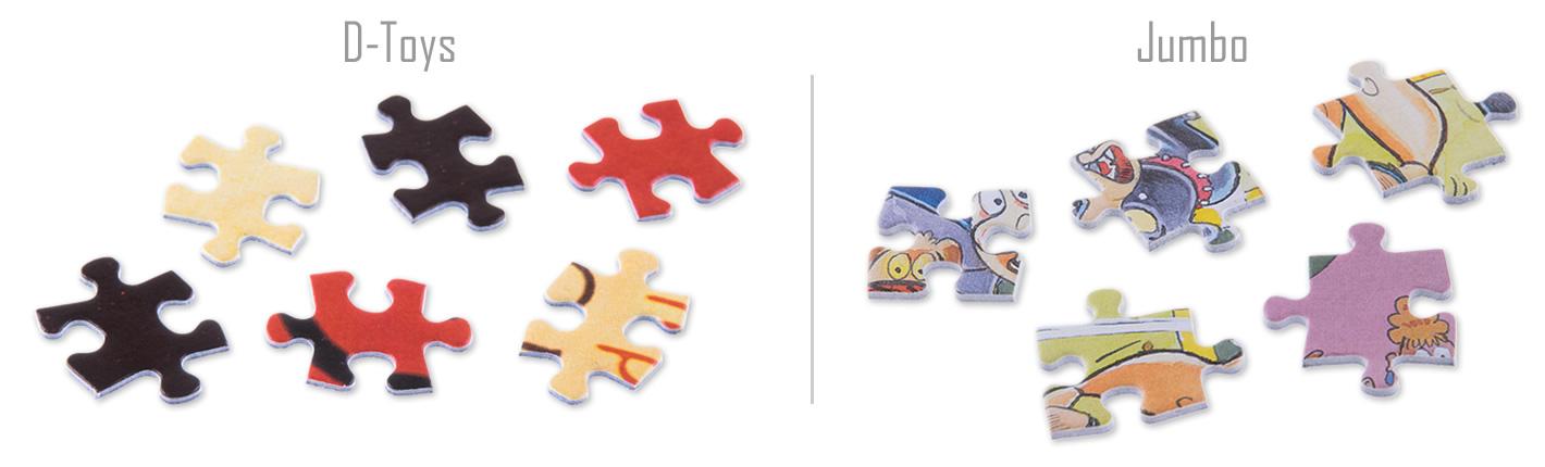 Zwei Köpfchen und zwei Aussparungen bei D-Toys - Jumbo mit Variationen