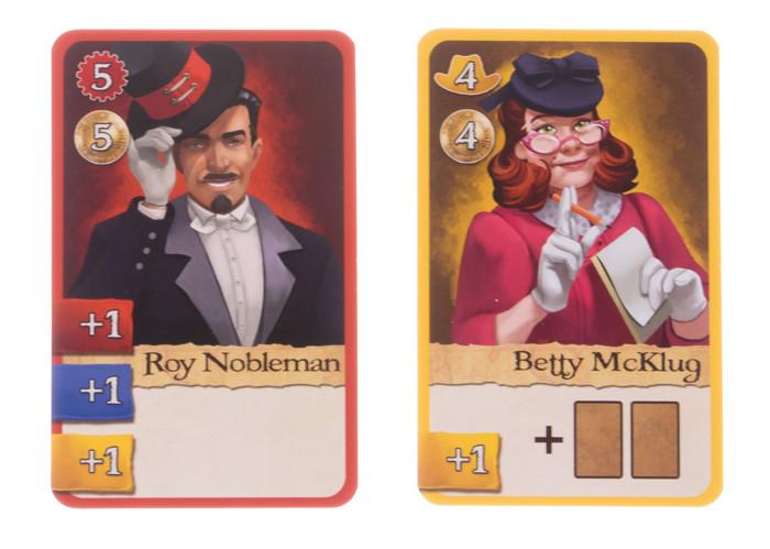 Karten Betty McKlug und Roy Nobleman