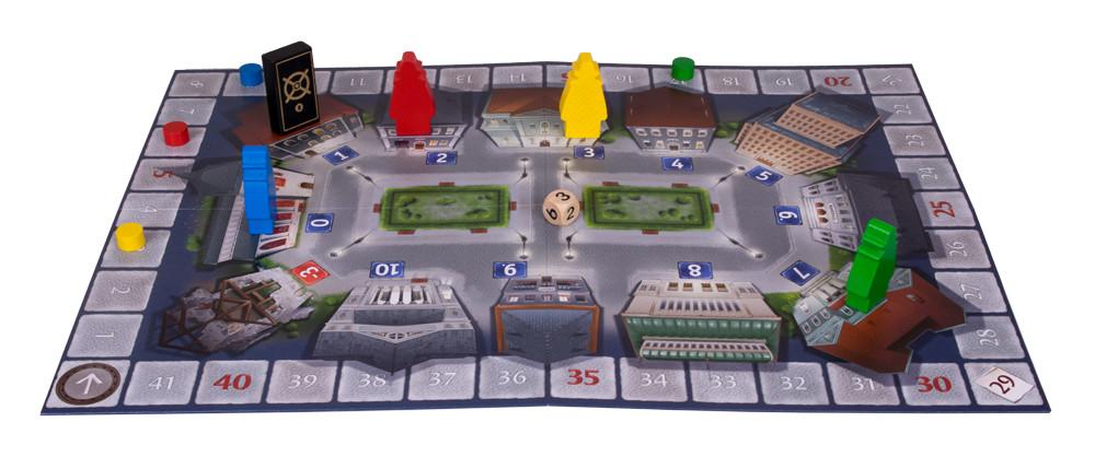 Die Spielfläche von Heimich & Co