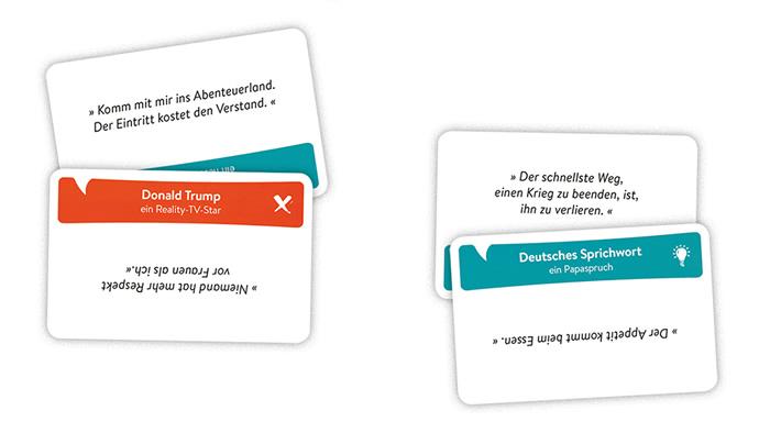 Game of Quotes: Beispielkarten