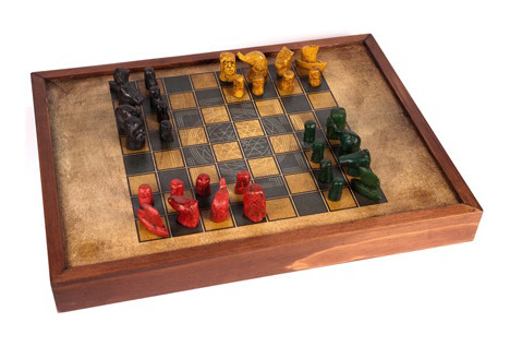Ein modernes Chaturanga Spielset (Quelle: https://www.buxaina.com/es/juego-25/chaturanga)