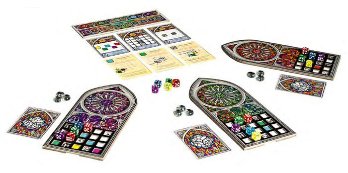 Das Spielmaterial von Sagrada: Extraklasse!