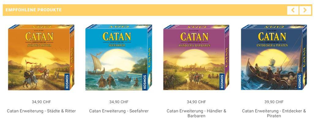 Für Catan sind unzählige Erweiterungen erhältlich!