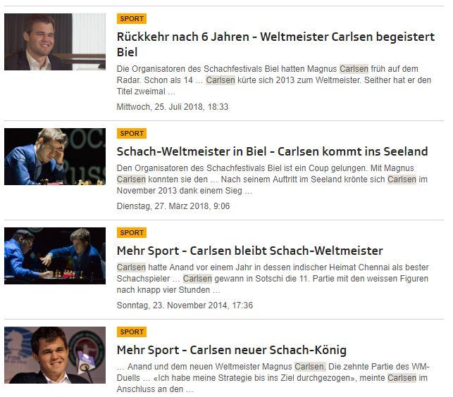 """SRF zum Suchbegriff """"Carlsen"""""""